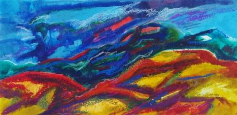 yireh-elaine-kwak-haze-2016-5-x10-watercolor-acrylic-oil-pastels